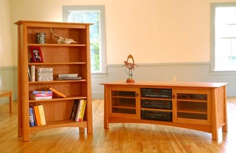 TV console and bookcase