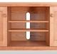 TV Console 2 Shaker Cherry wood doors detail