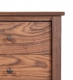 Nightstand 3 Drawer Shaker Walnut Detail 1