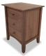 Nightstand 3 Drawer Canterbury Walnut angle