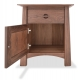 Nightstand 1 Drawer and Door Harvestmoon walnut open