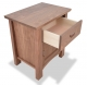 Nightstand Gamble Walnut with drawer open