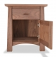 Nightstand Gamble Walnut one drawer open